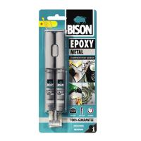 BISON Epoxy Metal Adeziv bicomponent cu aspect metalic, 2x12ml