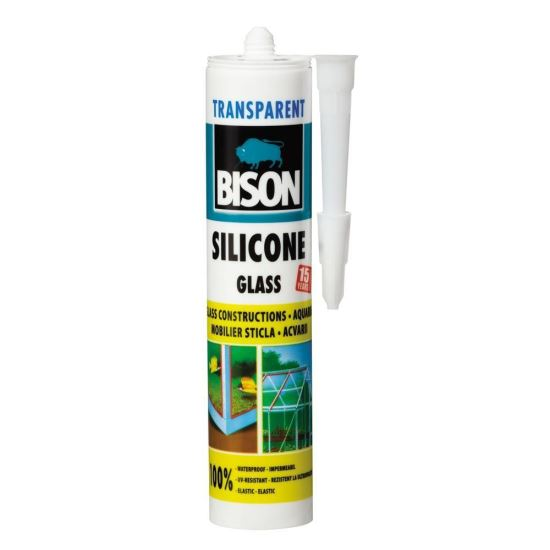 BISON Silicon pentru sticlă, transparent, 280ml