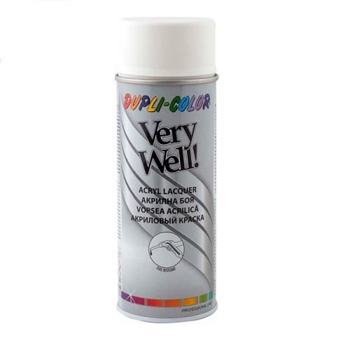 VERY WELL Vopsea spray decorativă, alb mat, RAL9010, 400ml