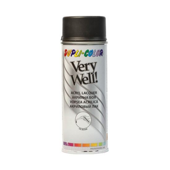 VERY WELL Vopsea spray decorativă, negru mat, RAL9005, 400ml