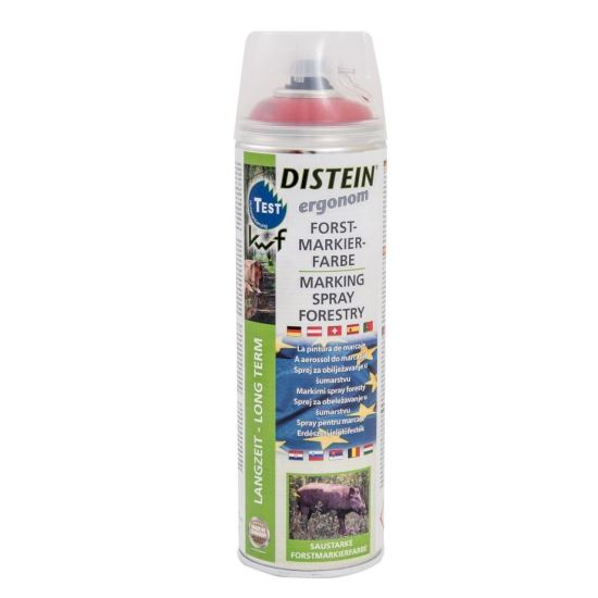 DISTEIN Spray fluorescent pentru marcaje forestiere, 500ml