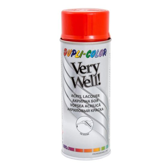 VERY WELL Vopsea spray decorativă, roşu, RAL3020, 400ml