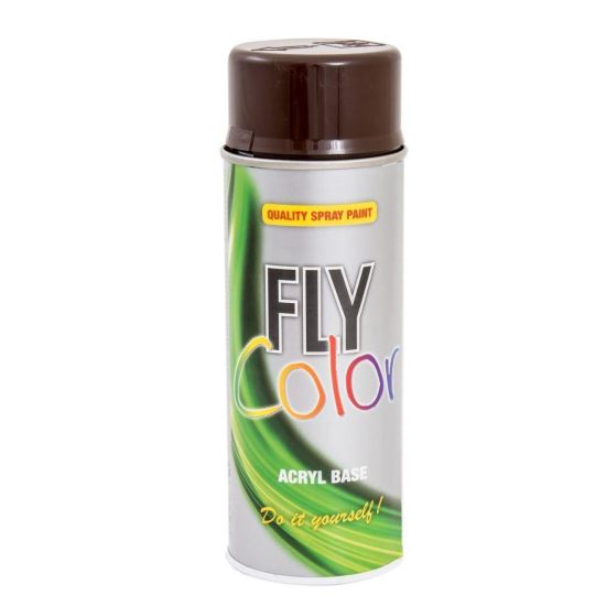 FLY COLOR Vopsea spray decorativă, maro, RAL8017, 400ml