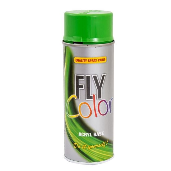 FLY COLOR Vopsea spray decorativă, verde, RAL6018, 400ml