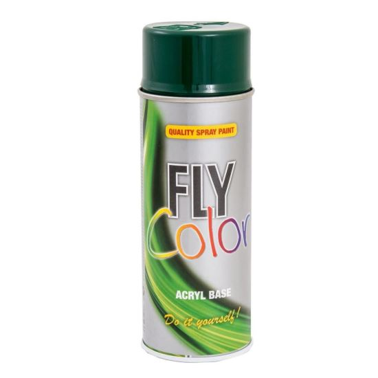 FLY COLOR Vopsea spray decorativă, verde, RAL6005, 400ml