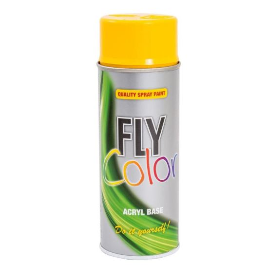 FLY COLOR Vopsea spray decorativă, galben, RAL1023, 400ml