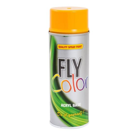 FLY COLOR Vopsea spray decorativă, orange, RAL1007, 400ml