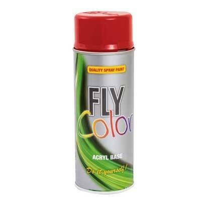 FLY COLOR Vopsea spray decorativă, roșu foc, RAL3000, 400ml
